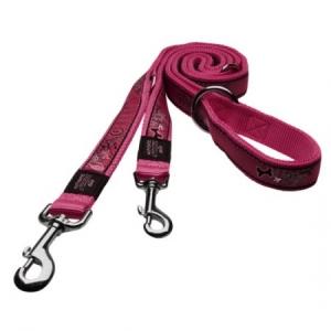 5705-Rogz_Fancy_Dress_Scooter_multi-purpose_lead_160cm_Medium___Pink_Bones